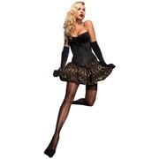 corset showgirl prenium leg avenue noir burlesque