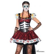 Costume 2 pieces la belle mexicaine dia de los muertos leg avenue leg avenue large i halloween noir