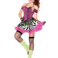 Costume 2 pieces leopard leg avenue noir p tites betes
