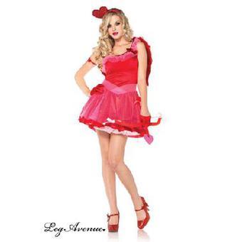 costume 3 pieces cupidon leg avenue rouge fee princesse
