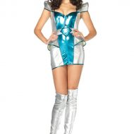 Costume 3 pieces princesse venus leg avenue argent bleu fee princesse