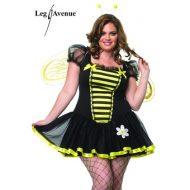 Costume abeille butineuse leg avenue noir jaune costumes grandes tailles