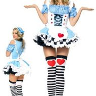 Costume alice leg avenue bleu rouge blanc poker girl