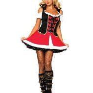 Costume amirale sexy leg avenue rouge noir blanc pirate