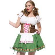 Costume autrichienne leg avenue vert marron costumes grandes tailles