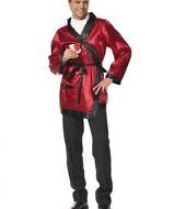 Costume bachelor leg avenue bordeaux noir costume homme