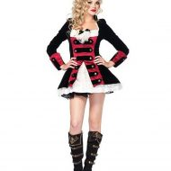 Costume capitaine pirate leg avenue noir rouge pirate