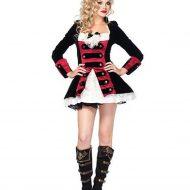 Costume capitaine pirate leg avenue noir rouge pirate