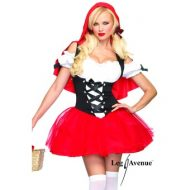 Costume chaperon rouge leg avenue noir rouge personnages tv