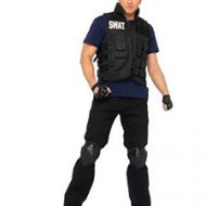 Costume commandant swat leg avenue noir costume homme