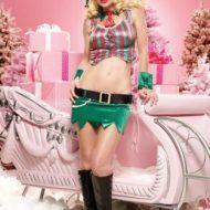Costume de noel petit elfe du houx leg avenue vert rouge noel