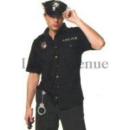Costume de policier leg avenue noir costume homme