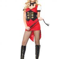 Costume dompteuse sexy leg avenue noir rouge cirque