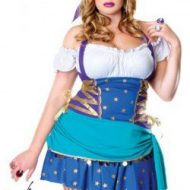 Costume gitane leg avenue bleu blanc costumes grandes tailles