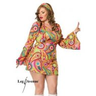 Costume hippy peace leg avenue multicolore mode retro