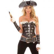 Costume jeune pirate leg avenue noir blanc pirate