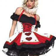 Costume joueuse de cartes leg avenue noir rouge costumes grandes tailles