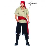 Costume pirate leg avenue noir rouge costume homme