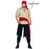 Costume pirate leg avenue noir rouge costume homme