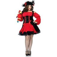 Costume pirate sanguinaire leg avenue noir rouge pirate