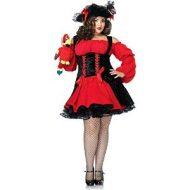 Costume pirate sanguinaire leg avenue noir rouge pirate