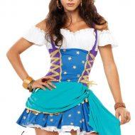 Costume princesse boheme leg avenue bleu blanc fee princesse