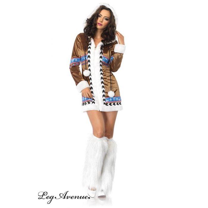 costume princesse esquimau leg avenue marron fee princesse