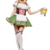 Costume serveuse allemande leg avenue vert marron serveuse sexy