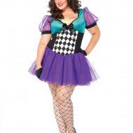 Costume serveuse de the gt leg avenue noir mauve costumes grandes tailles
