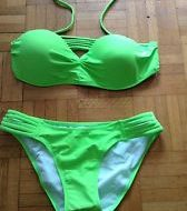 Costumes bikini 2 pieces avec tutu colore dragonne vert fluo leg avenue sm