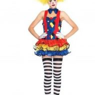 Costumes clown ricaneur bleu rouge leg avenue small