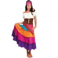 Costumes costume 2 pieces grande taille gitane mauve noir leg avenue 1x 2x