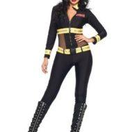 Costumes costume 2 pieces pompier chic noir leg avenue small