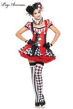 costumes costume 3 pieces clown arlequin noir rouge leg avenue small