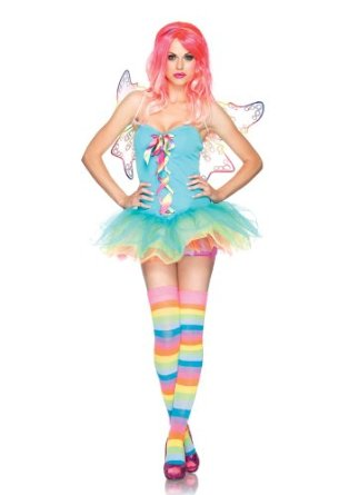 costumes costume 3 pieces fee arc en ciel multicolore leg avenue small