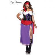 Costumes costume 3 pieces grande taille princesse en rose rose leg avenue 1x 2x