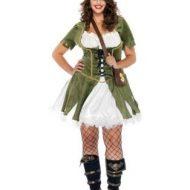 Costumes costume 3 pieces grande taille voleuse de coeurs olive creme leg avenue 1x 2x
