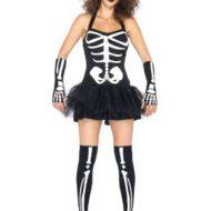 Costumes costume 3 pieces squelette noir blanc leg avenue xs
