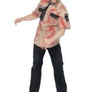 Costumes costume 3 pieces zombie officier de police us marron leg avenue ml