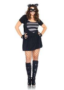 costumes costume 4 pieces grande taille raton laveur noir gris leg avenue 1x 2x