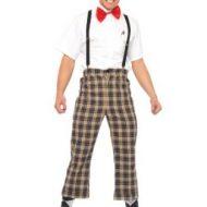 Costumes costume 4 pieces intello ringard marron leg avenue small