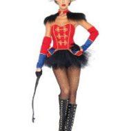 Costumes costume 4 pieces reine du cirque noir rouge leg avenue small