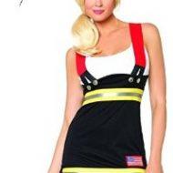 Costumes costume pompier noir blanc leg avenue large