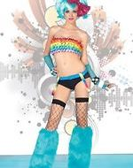 Costumes haut tube volants venus multicolore leg avenue sm