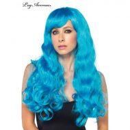 Costumes perruque longue fluo bleu fluo leg avenue taille unique