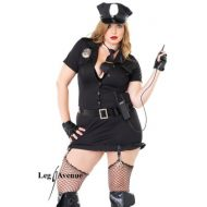 Costumes police skirty set noir gris obsessive sm