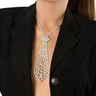Cravate courte trio de strass desire fashions taille unique accessoires argent