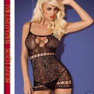 D204 robe obsessive lxl lingerie noir