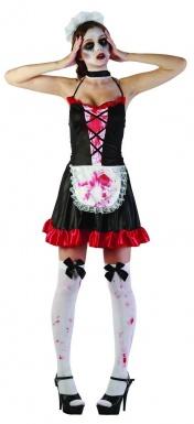 deguisement sexy de soubrette french maid body