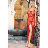 Deshabille robe longue papillons de nuit leg avenue rouge robes lingerie longues